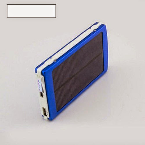 New Blue 30000mAh Solar Power Bank Backup Battery Charger for GPS PDA Cell Phone