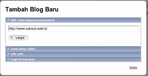Masukkan URL web/blog