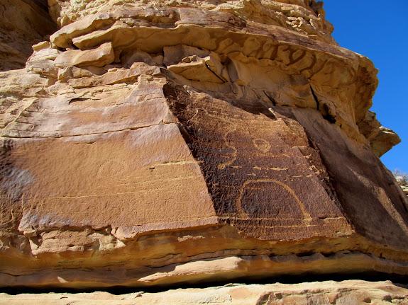 Petroglyph panel