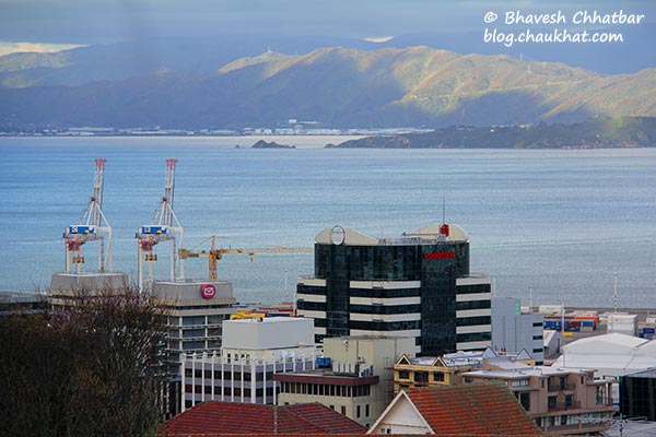A view from the Kelburn station of Wellington Cable Car