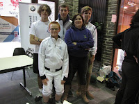 Bas, Jo, Laura (coach), Frans, Brecht. Sam, Robin en Gielis ontbreken op de foto want ze waren al vertrokken. Volgende keer maken we eerst een groepsfoto.