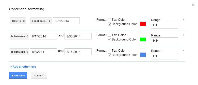 Upcoming vs  Expired date formula - Docs Editors Help