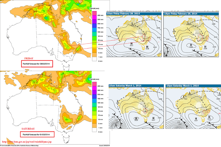 WATL rain forecast 28th feb 2014