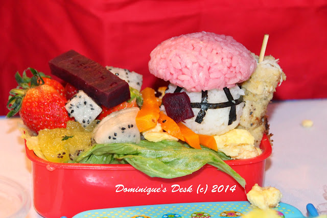 The side view of the bento