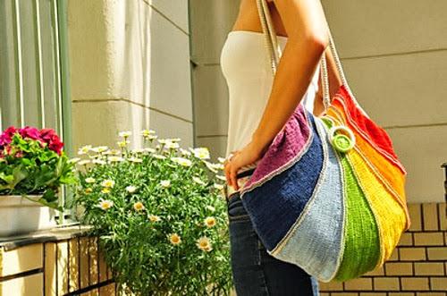 inspiração: arco-íris - bolsa colorida