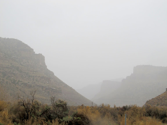 Heavy rain in Nine Mile Canyon
