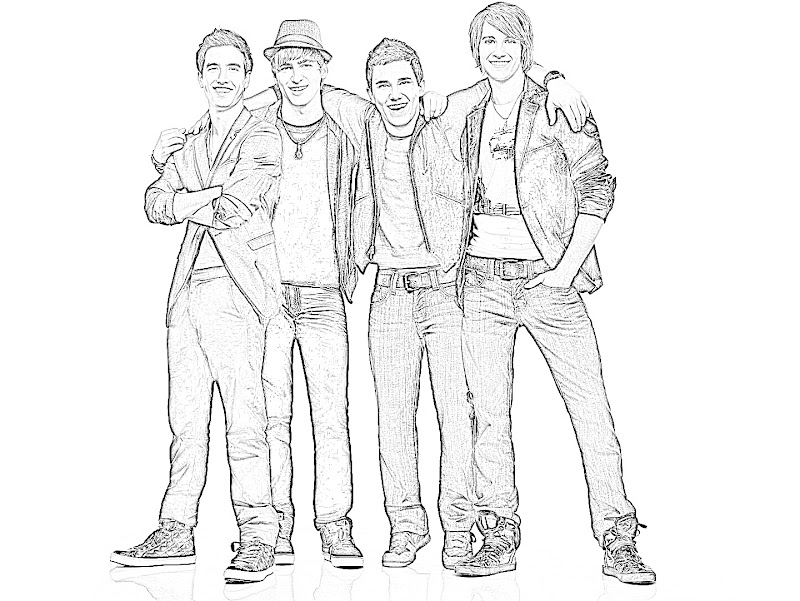 BTR Coloring Sheets http://www.coloringbook4kids.com/2012/11/big-time-rush-coloring-pages-for-print.html