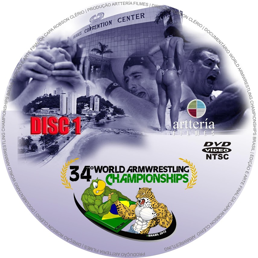 VIDEO DVD: 34th World Armwrestling Championships 2012