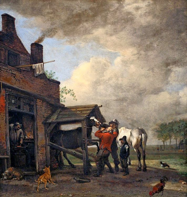 Paulus Potter - A Farrier's Shop