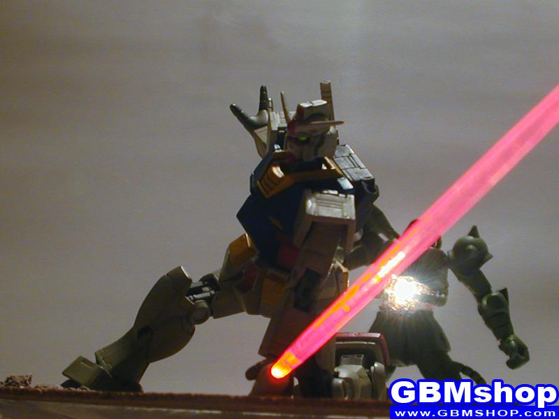 Gundam First Battle / Amuro's First Kill diorama scene