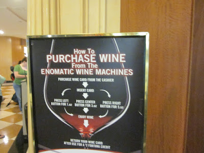 Wine vending machine vegas hotel lobby stock photo