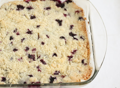 photo of the pie bars in a baking dish
