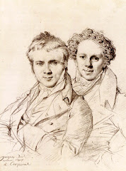 ingres, stackelberg, 1817, portrait, double portrait, drawing, young men, mischievous, story