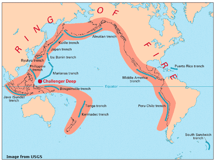 Viable opposition explaining japans earthquake tectonic activity along the ring of fire results from the collision and subduction of the worlds tectonic crustal plates that are floating on the gumiabroncs Images