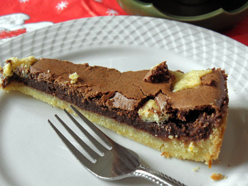 Kruche ciasto z kremem czekoladowym