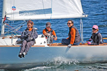 J/22 women's sailing team- at Sail Canada nationals