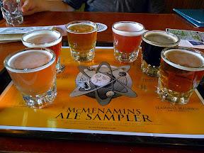 McMenamin's Ale Sampler tray for beer
