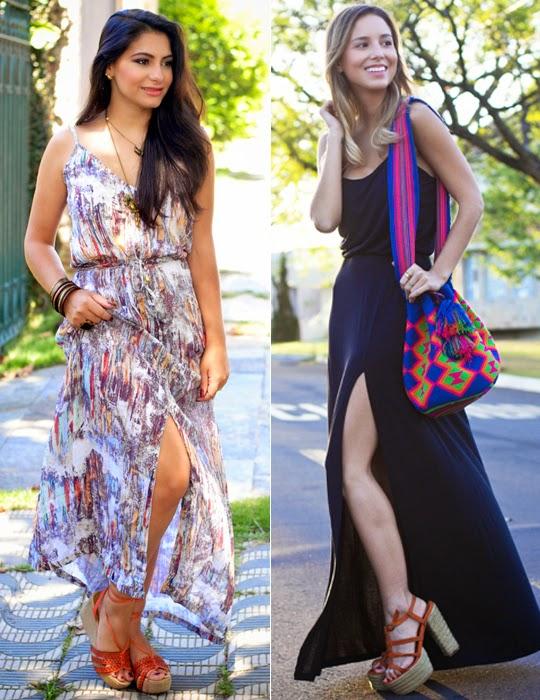 tendência vestido longo