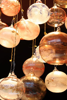 Ornaments at a Christmas market in Cologne Germany