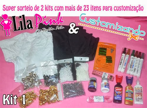 Sorteio de customização - blog Lila Pink e Customizando - kit 1