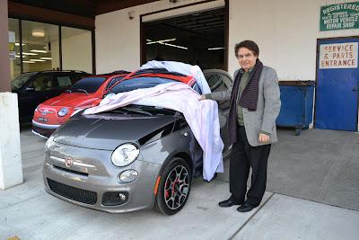 Alfredo Gulla with Fiat 500 Prima Edizione number 29