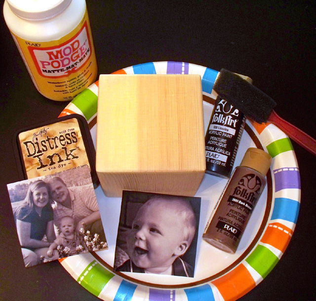 Mother's Day photo cube supplies