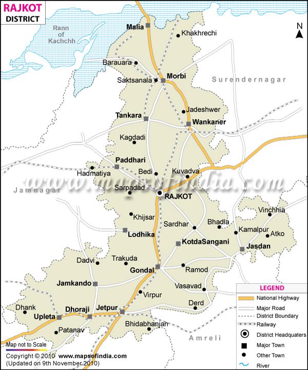 Sarva Shiksha Abhiyan, RAJKOT: Rajkot District Map