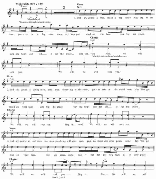 Queen – We Will Rock You guitar tabs