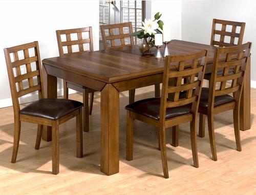 Bàn ghế ăn gỗ dổi kiểu dáng hiện đại 6 ghế