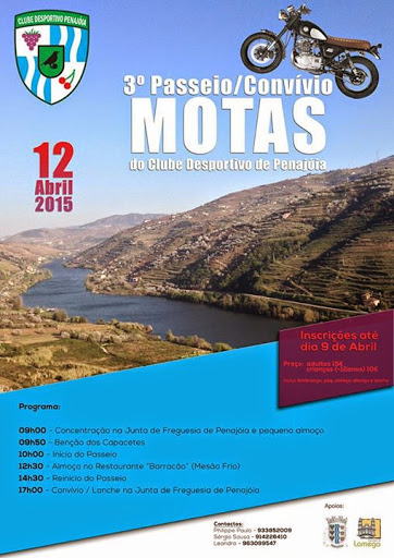 Programa - 3º Passeio/Convívo de Motas - Penajóia - 12de Abril