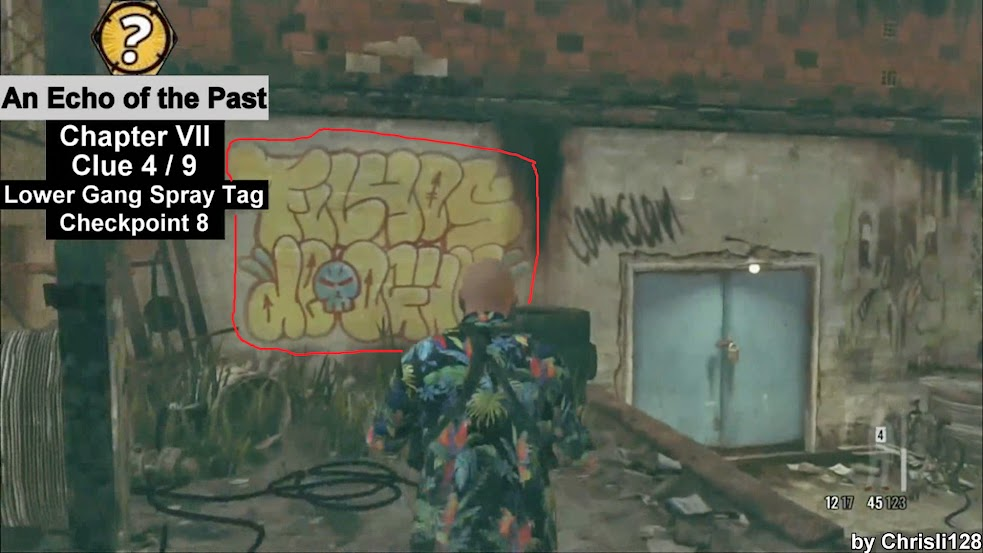 Chapter VII - Clue 4 - Lower Gang Spray Tag