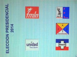 Papeleta de Elecciones 2014 El Salvador