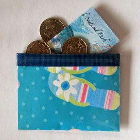 Ziploc coin purse photo