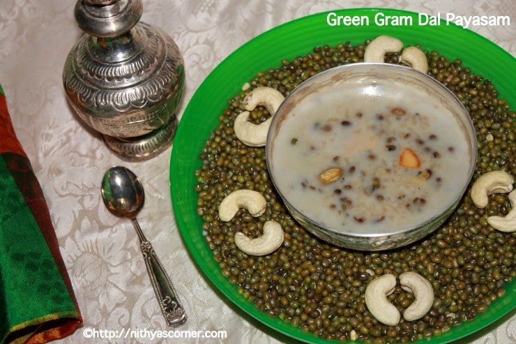 simple and easy pacha payir payasam with pictures