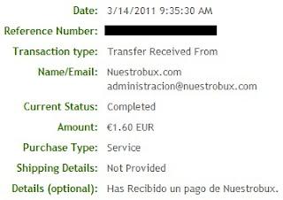 Pagamento NuestroBux - PTCs em Prática