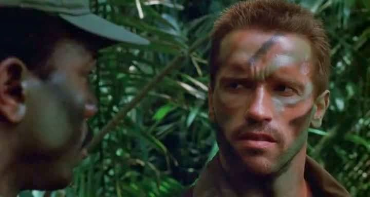 Screen Shot Of Hollywood Movie Predator (1987) In Hindi English Full Movie Free Download And Watch Online at Alldownloads4u.Com
