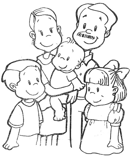 Laminas Infantiles Dibujar Mi Familia