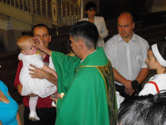 Négy gyermek egyidejű keresztelője 2011. szeptember 18-án