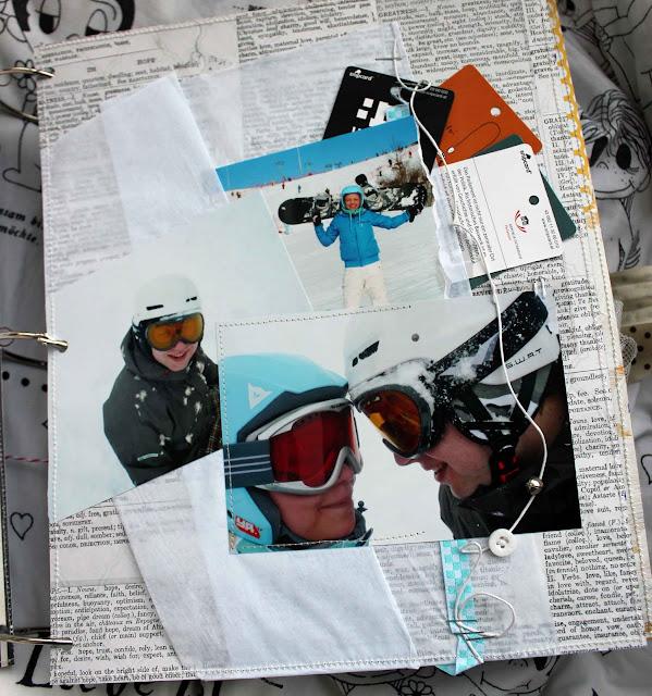 Скрап-страничка про сноуборд