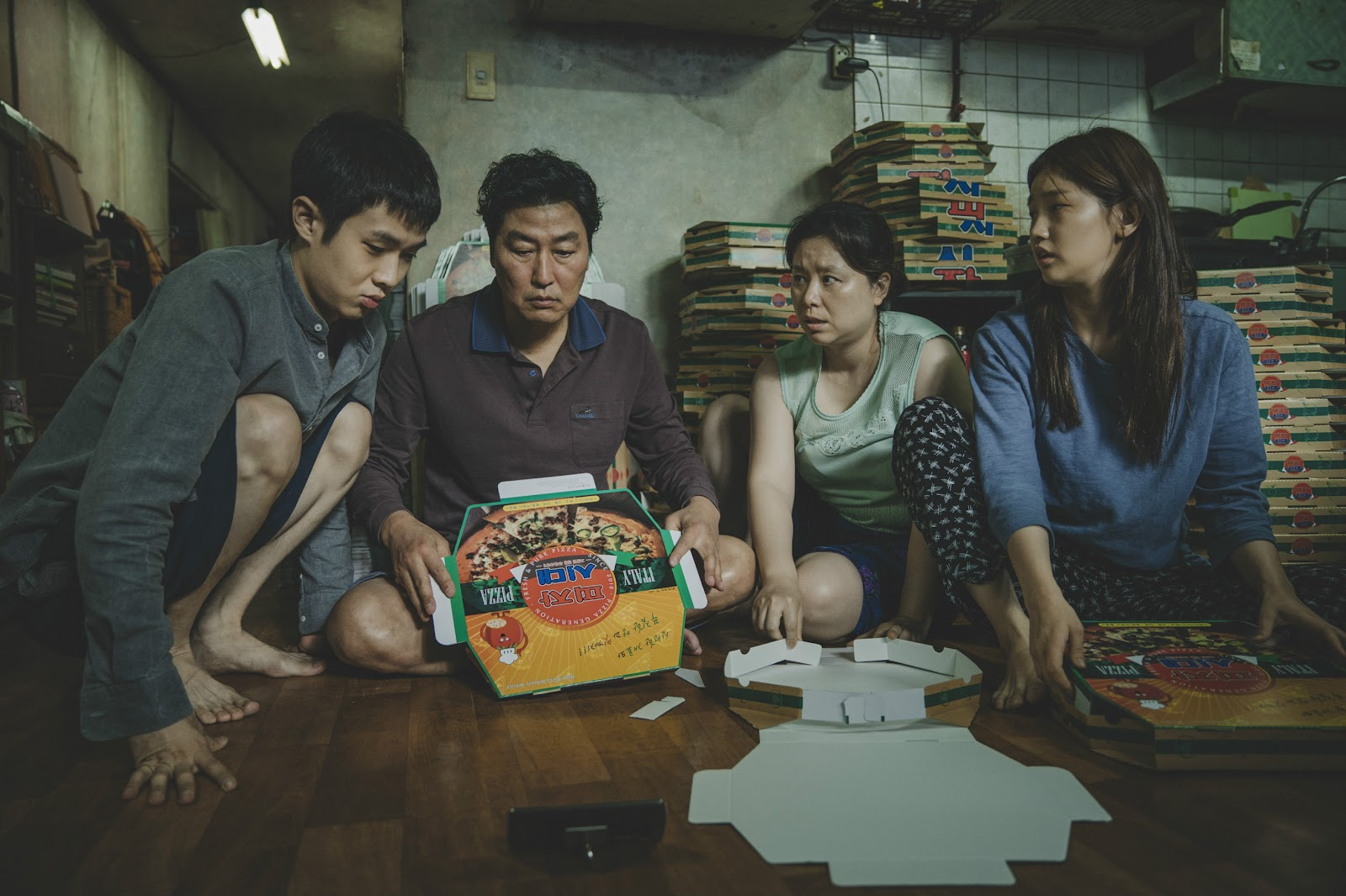 "Picture of the Kim family from ""Parasite"""