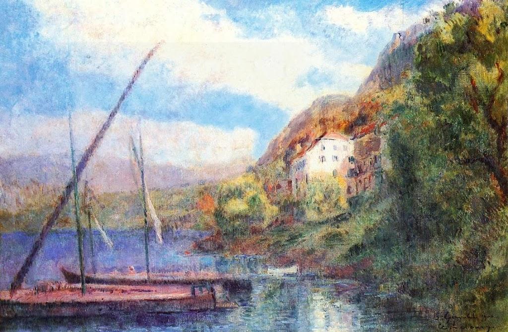 Albert Lebourg - The Shores of Lake Geneva at Saint-Gingolph