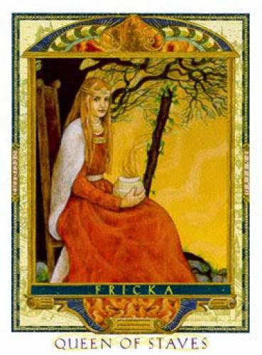 Queen Of Wands Fricka Lover Path Tarot