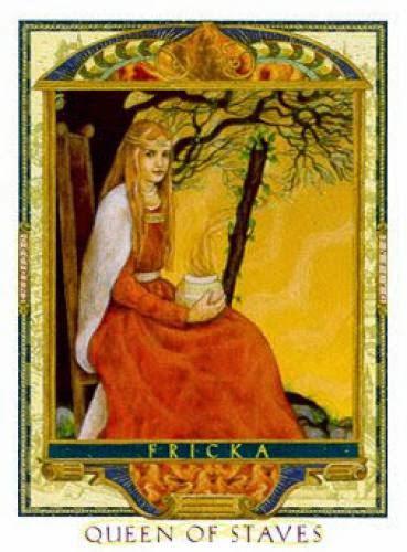 Queen Of Wands Fricka Lover Path Tarot