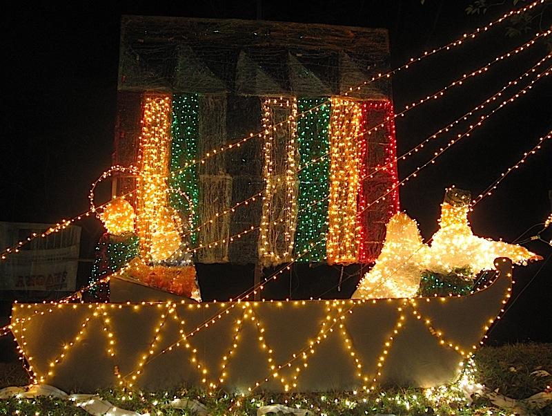 Nativity scene in a vinta
