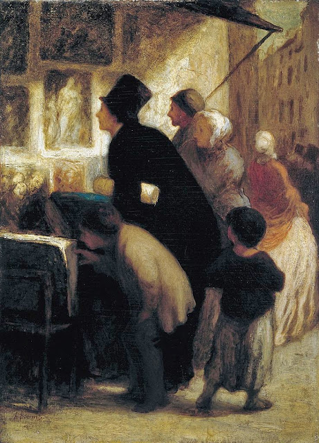 Honoré Daumier - Outside the Print–Seller's Shop