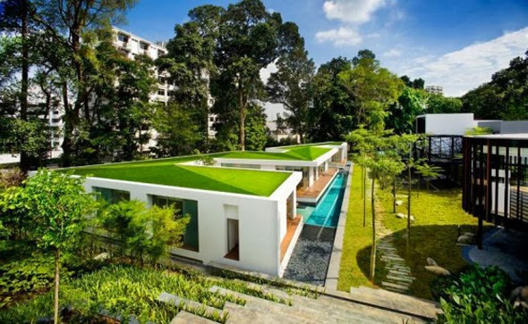 Çim Çatı Ev Modelleri