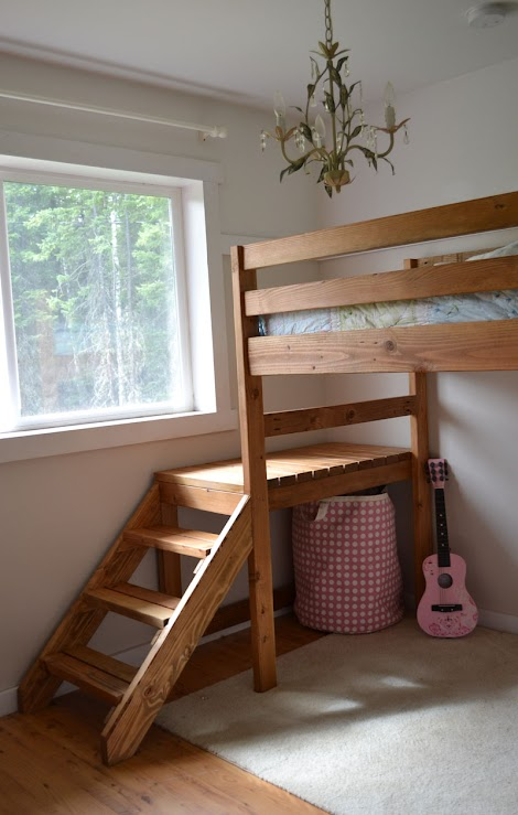 Camp Loft Bed With Stair Junior Height Ana White