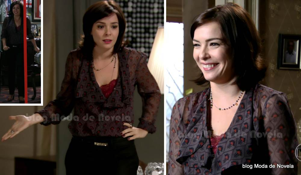 moda da novela Sangue Bom -look da Renata