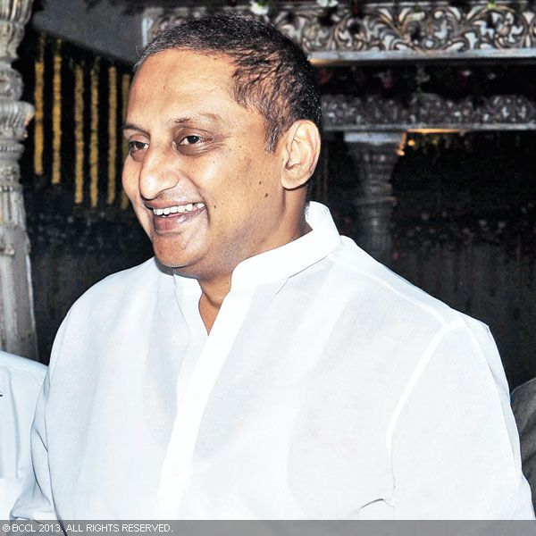 N Kiran Kumar Reddy arrives for Hitesh Chenchuram and Sri Puja's wedding ceremony, held in the city recently.