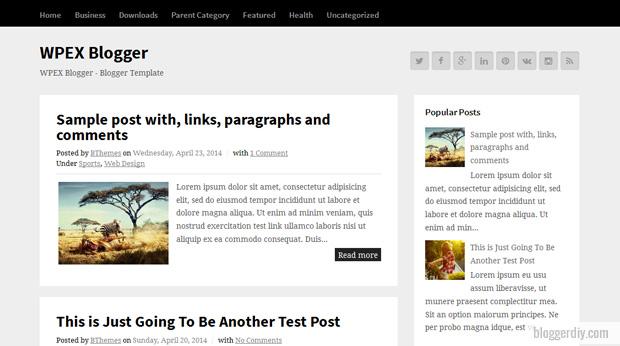 WPEX Blogger template
